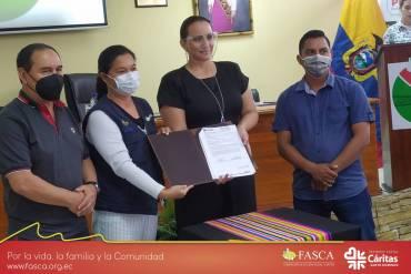 Gad Provincial de Santo Domingo de los Tsáchilas firmó convenio con Fasca